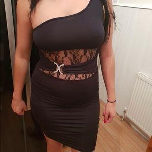 Black dress /Silky Material